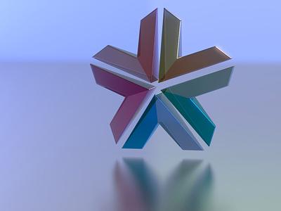 SPARK logo render branding logo design 3d art