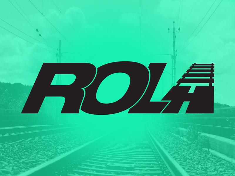 ROLA logo concept vector logo design branding