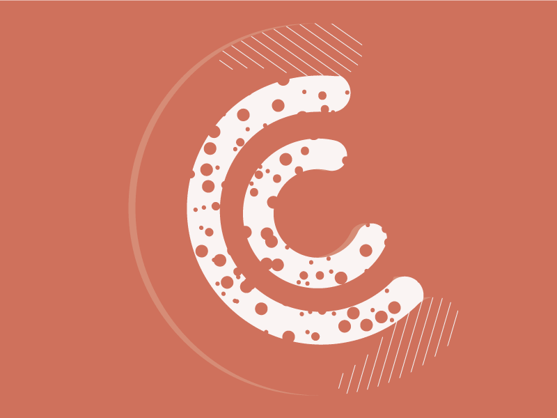#Typehue Week 3: C c typehue type letter illustration