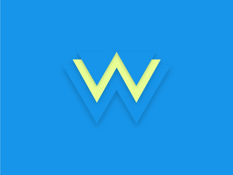 W w typehue type letter illustration