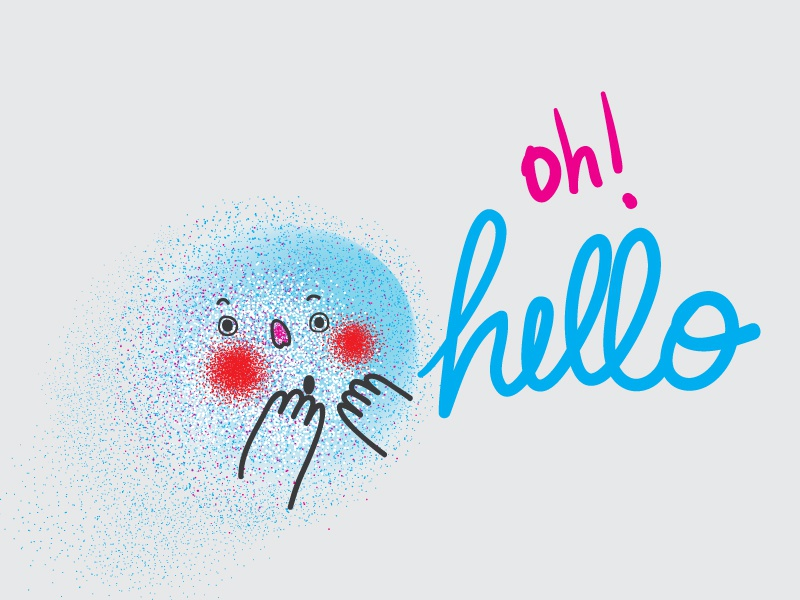 Oh! hello :) character texture illustration