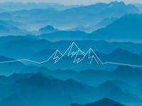 // mountain mountain line art line illustration doodle