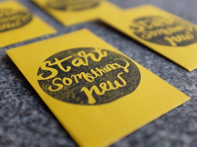 Start something new sustainable packaging eco-friendly planting seeds giveaway handlettering stamps