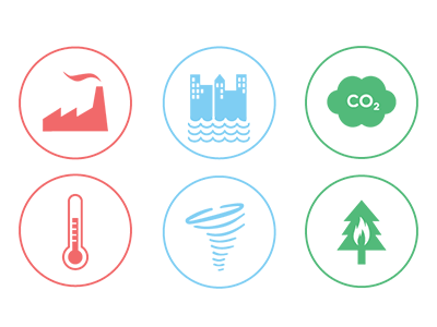 Climate Change icons  vector icons global warming environment climate change icons climate change