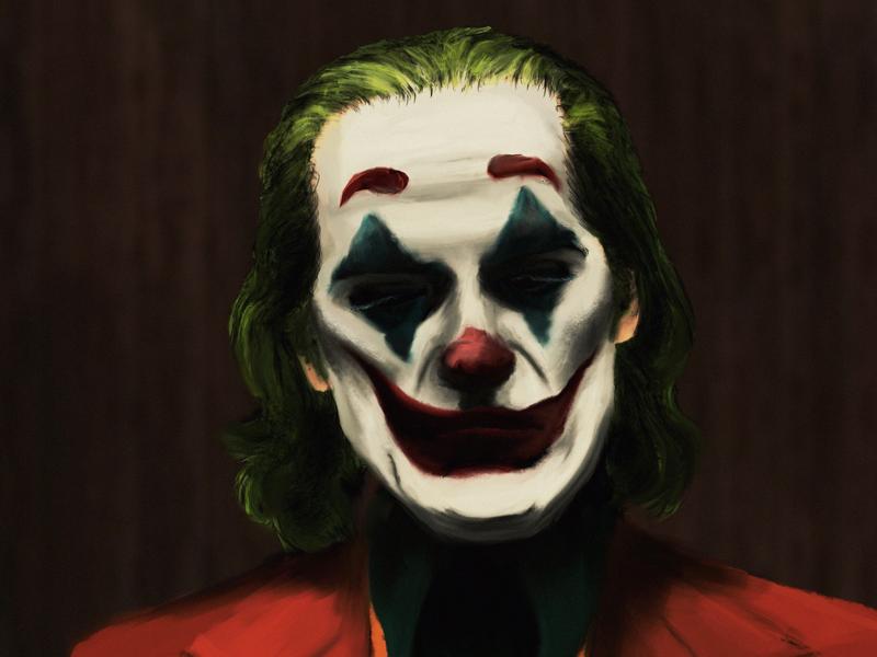 Joker freelance artist alabama birmingham joaquin phoenix realistic portrait illustration dc movie joker