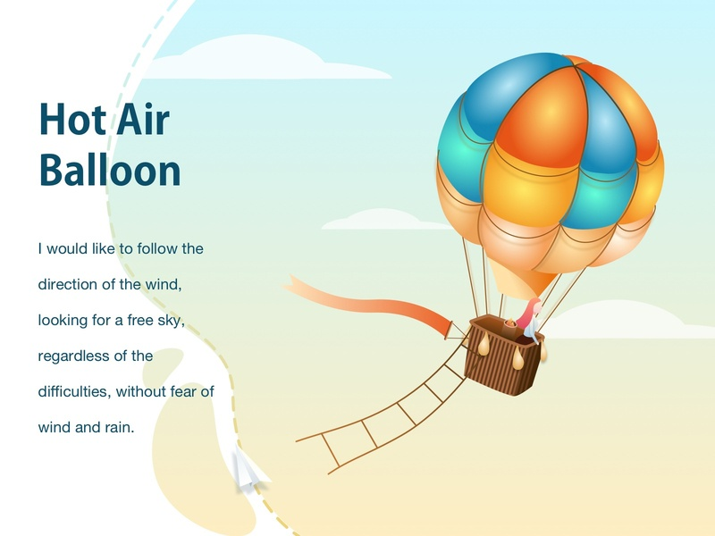HOT AIR BALLOON girl illustration sky girl ios app design mobile app app ui app ui android app illustration design
