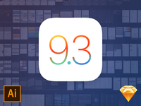 Free iOS 9.3 iPhone UI Kit by Rusty Mitchell