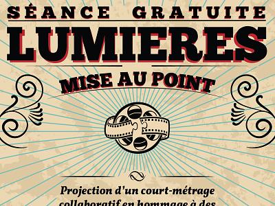 "Lumières - ""Mise au Point"" visual identity 20s poster webdesign"