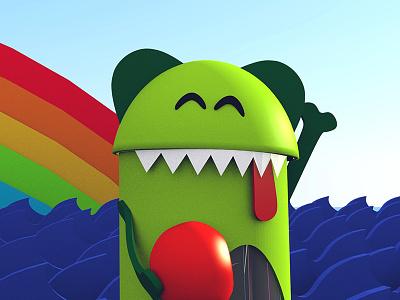 3D Monster shortcut spot cartoon animation monster blender 3d
