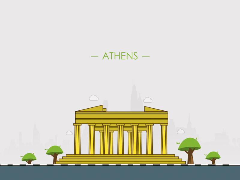 Athens City illustration - 100 post challenge - Post - 5