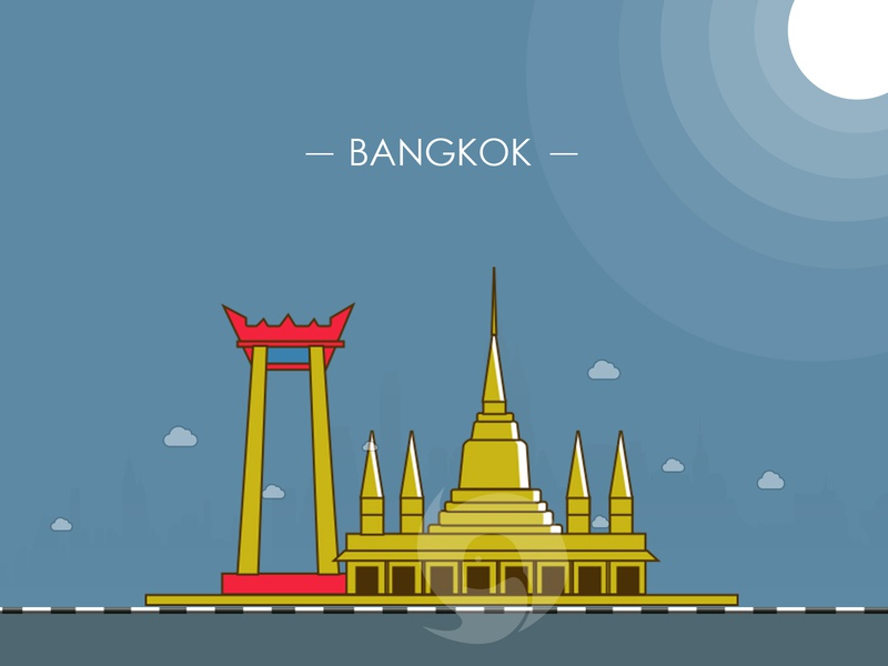 Bangkok City illustration - 100 post challenge - Post - 6