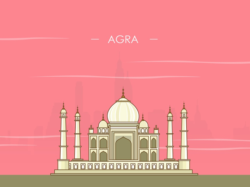 Tajmahal illustration - 100 post challenge - Shot - 9