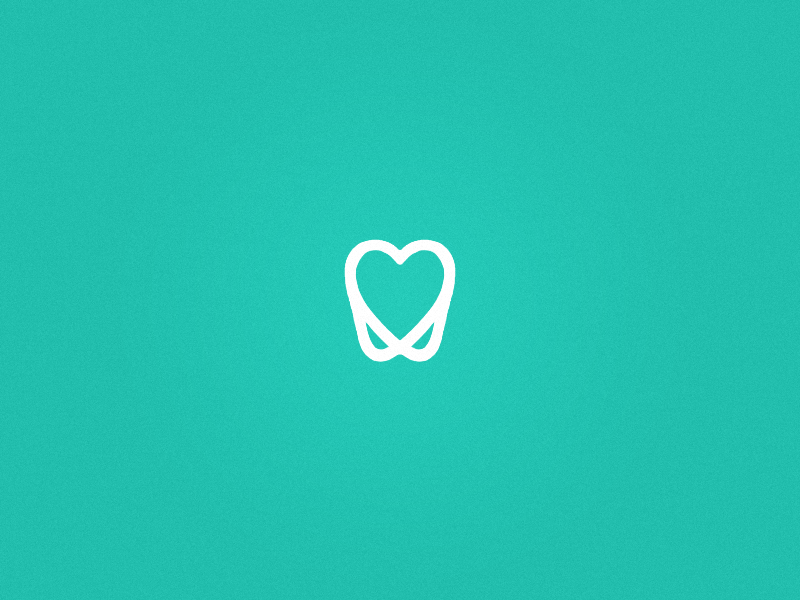 ADG Dentistry simple clean brand icon print heart tooth dentist dentistry logo