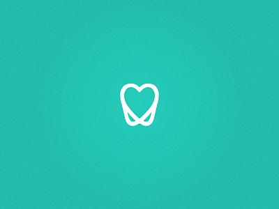 ADG Dentistry - Logo simple clean brand icon print heart tooth dentist dentistry logo