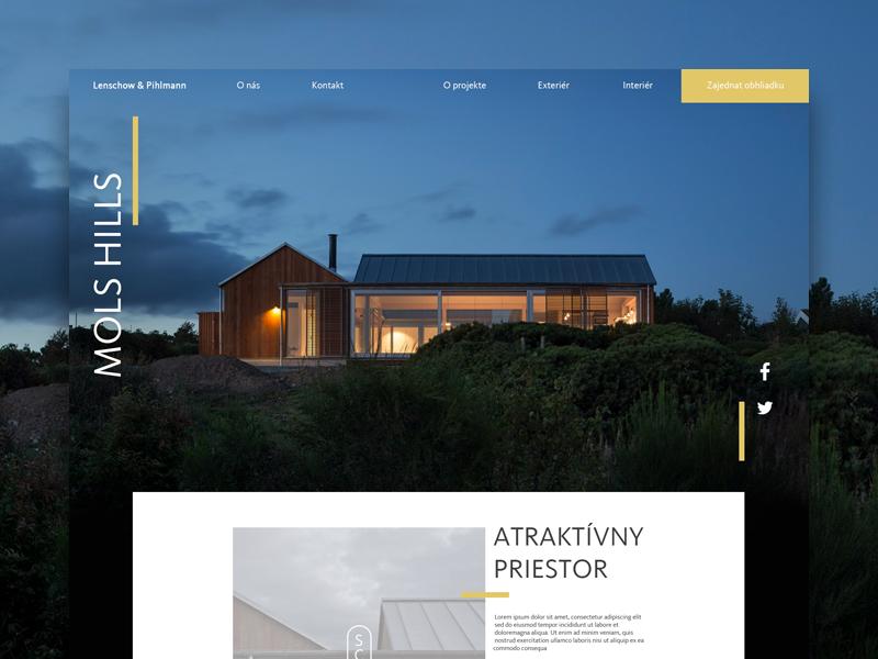 Mols Hills visual design landing page site clean interface minimal minimalistic concept ux ui web architecture
