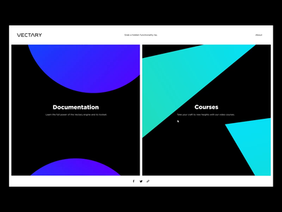 Vectary  - Knowledge Base file source free invision design animation minimalistic typography landing page white black clean ux web site invisionstudio interaction interface ui vectary