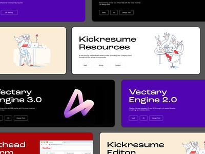 Portfolio - Project Cards card modern project portfolio typography vector branding logo illustration interaction site web ux ui