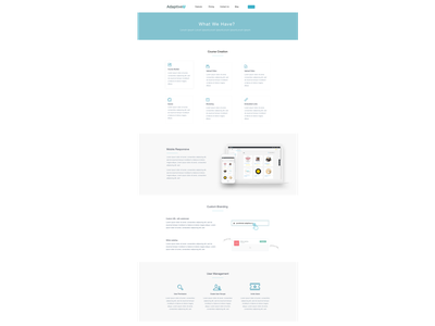 Features Page flat reponsive features page flat design landing page simple design