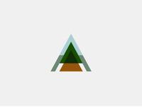Cov2 logo camping mountains arrow