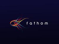 Fathom logo fish printing water