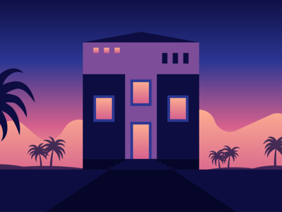36 Days Of Type — T 36daysoftype clean flat geometric gradient graphic house illustration illustrator texture vector