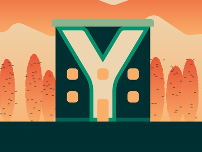 36 Days Of Type — Y vector texture illustrator illustration house graphic gradient geometric flat clean 36daysoftype