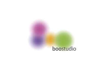 Boo-studio aerography boo studio gradient logo sign circle blur paint