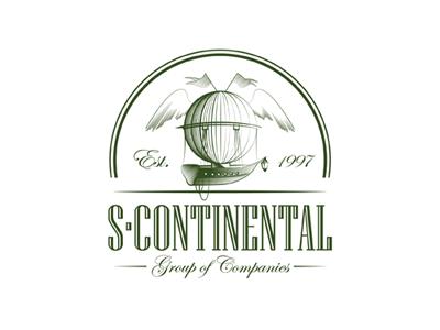 S-Continental balloon ship travel wings logo