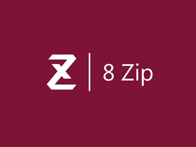 8 Zip archiver logo 8 eight zip windows8 style minimal