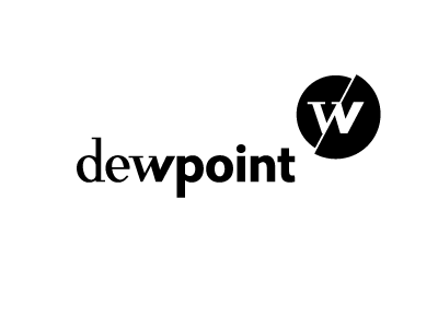 Dewpoint development mobile logo antique grotesque web new young dew point
