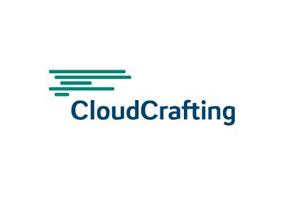 CloudCrafting sky logo cloud web internet app lines code lettering