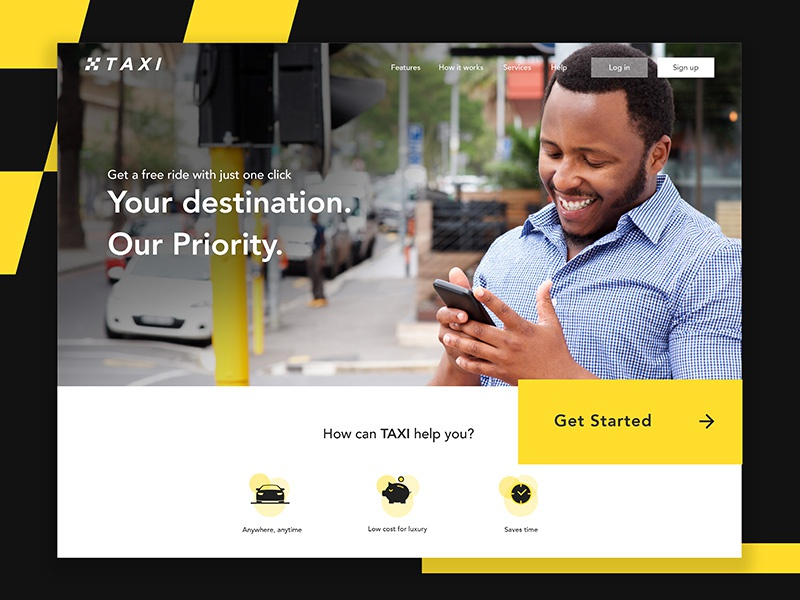 Taxi anyone? ui taxi landing page