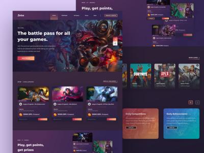 Zelos Gaming website redesign