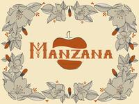 Manzana lettering