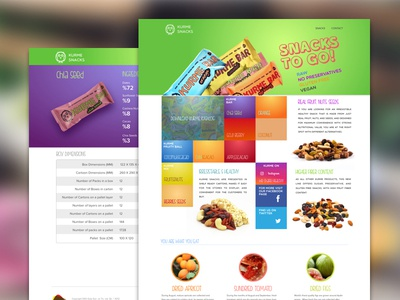 nutrition snack landing page
