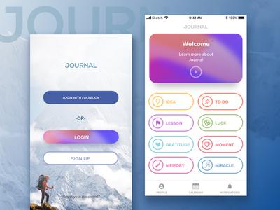 Journal personal progress tracking app