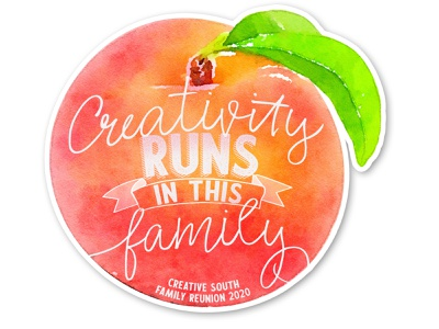 Creativity Sticker for Creative South Conference 2020 family reunion creative south peach illustration sticker