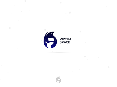 Logo Concept * Virtual Space icon vector illustration ios mobile web minimalistic design logo aztecdesign gdesignaz
