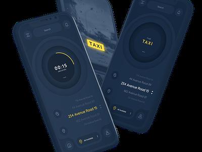 TAXI * Concept Design Neumorphism flat mobile minimalistic ux ui concept app design app
