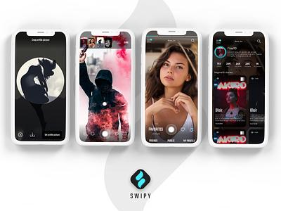 IA, UX / UI DESIGN * Swipy App branding design mobile minimalistic app ia ux ui user experience user interface information architecture