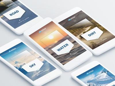 Vihor * Landing page for mobile app mobile view mobile app landing page page
