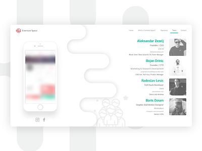 eventure.space * Landing Page, UX, UI bright white team ux ui app page landing