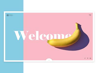 Concept* banana fit page landing web