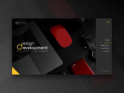 New Shot * Home page minimal design web