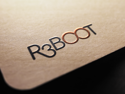 R3BOOT * Logo design minimalistic minimal typography design logo