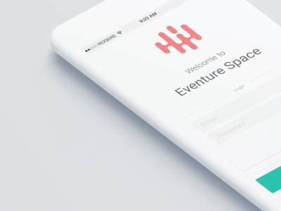 Eventure Space * App Design * Welcome ux ui minima simpliciti white signup login design app