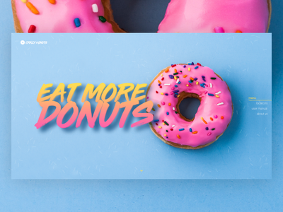New Shot * Crazy Donuts donuts page landing site presentation web