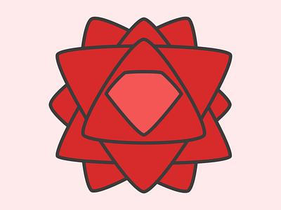 Rose City Ruby Logo flower ruby logo