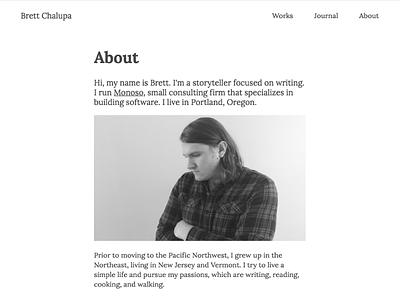 Personal Website Redesign web minimal website