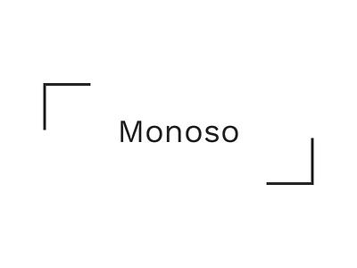 Monoso Logo branding minimal logo